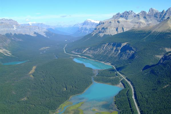 The Icefields Parkway - Aerial View